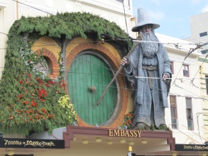 The huge Gandalf above the Embassy theatre was pretty impressive.