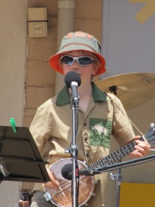 He was so cool in every sense of the word, playing and singing to a large crowd.