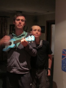 As Dane said we were the ones who got him a Ukulele so we shouldn't complain!